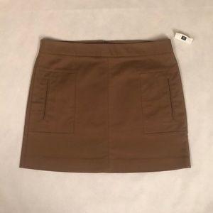 GAP Square Pocket Mini Skirt NWT Mushroom
